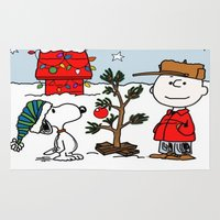 snoopy Area & Throw Rugs featuring Snoopy 01 by tanduksapi