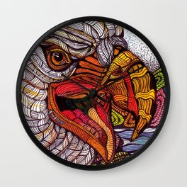 Eagle - Watercolor Illustration Wall Clock