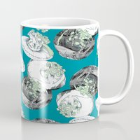jelly fish Mugs featuring Jelly Fish by Eleanor V R Smith