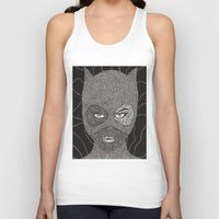 catwoman Tank Tops featuring CATWOMAN by OKAINA IMAGE