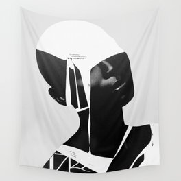 abstract portrait Wall Tapestry