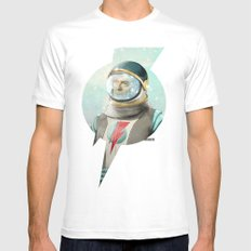 Stardust to Stardust White Mens Fitted Tee LARGE