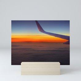 Sunrise over the seventh sky Mini Art Print