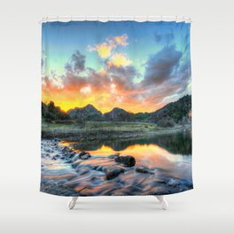 Sunset Landscape #river Shower Curtain
