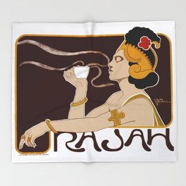Henri Meunier - Rajah Coffee Throw Blanket