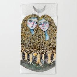 Goblin Market - illustration of poem by Christina Rossetti Beach Towel