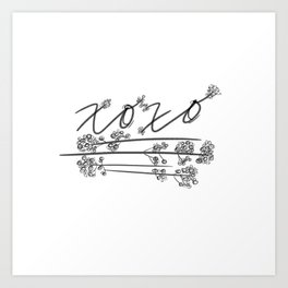 XOXO with Baby's Breath Art Print