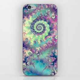 Violet Teal Sea Shells, Abstract Underwater Forest  iPhone Skin