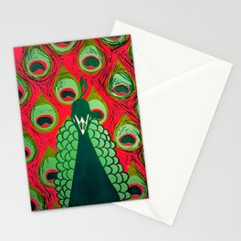 Pink Pavo Stationery Cards