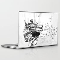 physics Laptop & iPad Skins featuring Piano Death by Liam Brazier