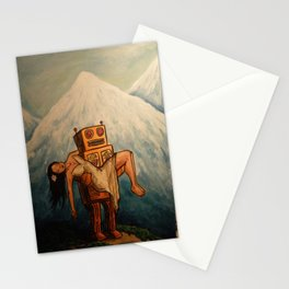 Robot Dream 3 Stationery Cards
