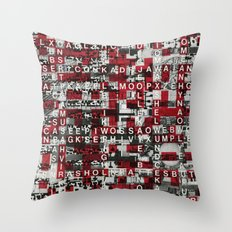 Paradox Network (P/D3 Glitch Collage Studies) Throw Pillow