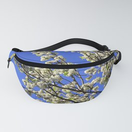 Blue Sky Pear Blossom Fanny Pack