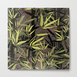 Grunge bamboo forest. Metal Print