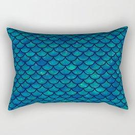 Mermaid scales iridescent sparkle Rectangular Pillow