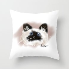 Crazy Siamese Throw Pillow