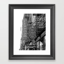 Little Italy Cafe Framed Art Print