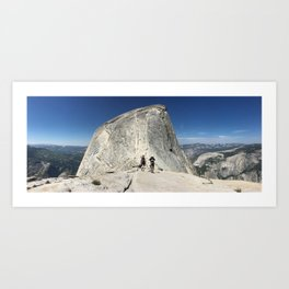 Half dome cables Art Print