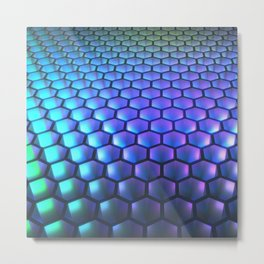 Holo Honeycomb Metal Print