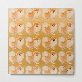 Cute dog pattern Metal Print