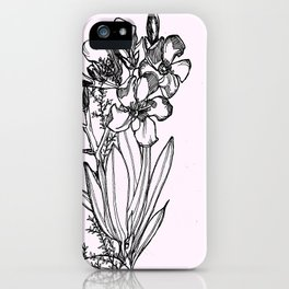 flower in black ink iPhone Case