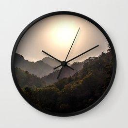 Sunset at Seoraksan Wall Clock