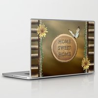 home sweet home Laptop & iPad Skins featuring Home Sweet Home by LLL Creations