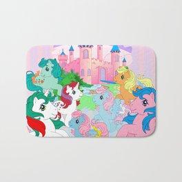 retro g1 my little pony Dream Castle Bath Mat
