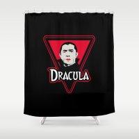 dracula Shower Curtains featuring Dracula by CarloJ1956