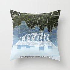 Explore Create Repeat Throw Pillow