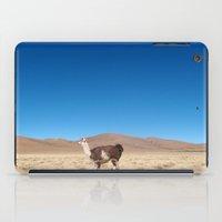 llama iPad Cases featuring Llama by Globe Journey