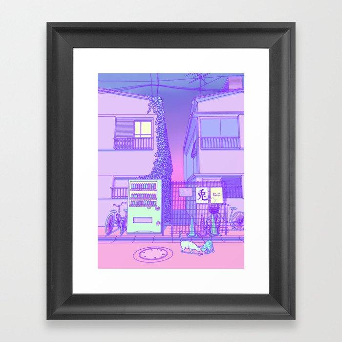 Pastel Tokyo Cats Gerahmter Kunstdruck