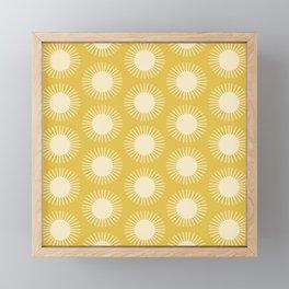 Golden Sun Pattern III Framed Mini Art Print
