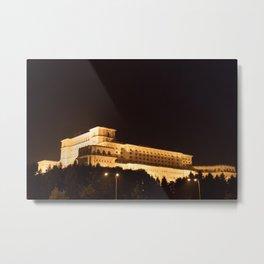 Roumania, Parliament Bucharest Metal Print