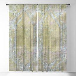Prehnite Crystal  Sheer Curtain