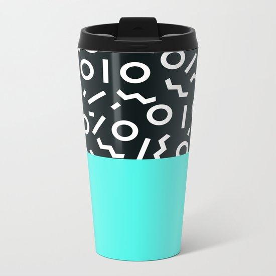 Memphis pattern 48 Metal Travel Mug