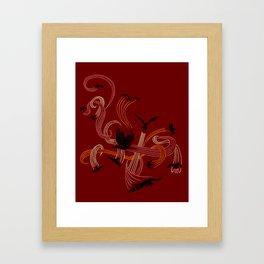 Holding Pattern Framed Art Print