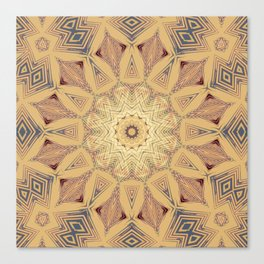 Native Sun Ochre Canvas Print