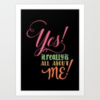 All about me! Art Print