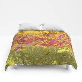 A Day in the Sun (Geraniums) Comforters