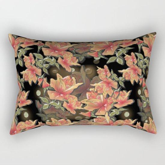 Yellow roses . Imitation glass .3D/ Rectangular Pillow