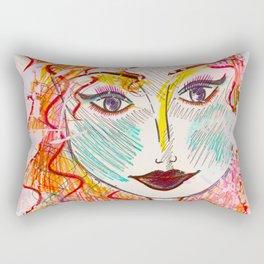 I Will Think of A Mermaid Lagoon, Underneath Magic Moon ~Wendy Rectangular Pillow