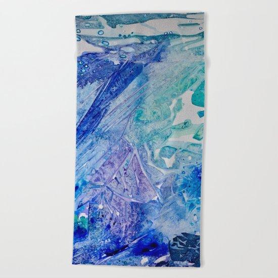 Water Scarab Fossil Under the Ocean, Environmental Beach Towel