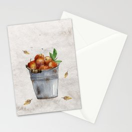 Apple Pail Stationery Cards