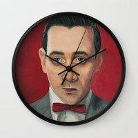 pee wee Wall Clocks featuring Pee-Wee Herman, A portrait by Jen Holland AKA nerdifer