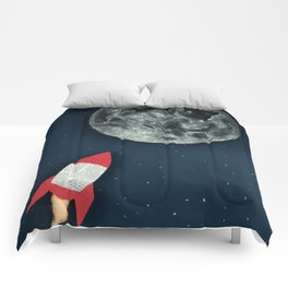 Rocket to the Moon Comforters