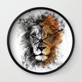 Two Face Lion  Wall Clock
