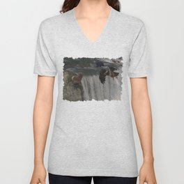 The Gathering Place - Wildlife Scene Unisex V-Neck