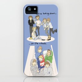 We are looking down on the clouds iPhone Case