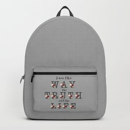 I am the Way the Truth and the Life Modern Floral Typography Backpack
